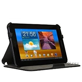 BLUREX Leather Slim folio Case With Multi-Angle Stand for samsung galaxy tab 7.0 plus (P6200)