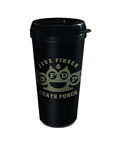 Five Finger Death Punch, in ottone, con tirapugni, Tazza da viaggio, prodotto ufficiale