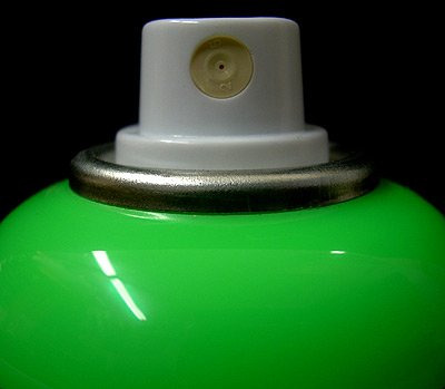 Montana GOLD Acrylic Professional Spray Paint 400 ml - Acid Green Fluorescent (Fluorescent Green Spray Paint compare prices)