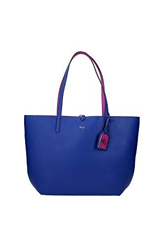 Borse Shopping Ralph Lauren Donna Poliuretano Blu o Orchidea e Argento N19L7194AL693V4L95 Blu 11x29x29 cmEU
