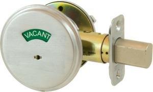 Schlage B571-619 Door Bolt Occupancy Indicator (Satin Nickel)