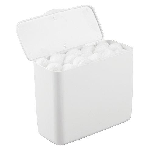 Titolare tampone mDesign per bagno, armadio o sul sciacquone conservazione di igiene articoli, vincolerebbero - grande, bianco