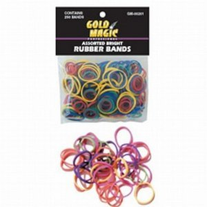 Gold Magic Rubber Bands Bright Assorted Colors (Pack of 2)
