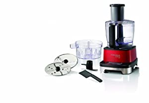 Morphy Richards 401001 Accents Induction Food Processor with Serrator Blade - Red