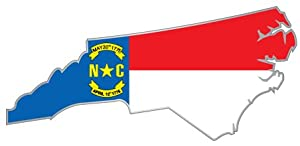 Amazon North Carolina State Map Flag Sticker Decal 6