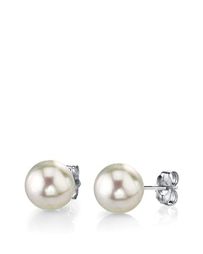 Radiance Pearl 14K Gold 9mm White Freshwater Cultured Pearl Stud Earrings