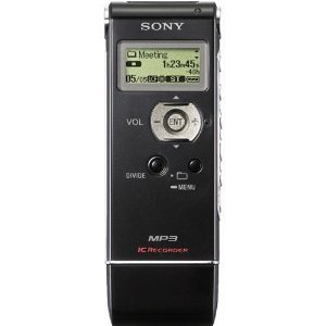 Sony Icd-Ux81 With 2 Gb Flash Memory - Mp3 Stereo Recording And Play Back - Pc/Mac Compatible Data Storage (Black)