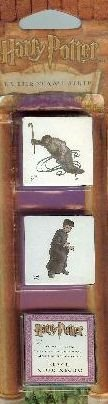 Harry Potter Rubber Tattoo Stamp Strip: Peeves the Poltergeist and Harry Potter Plus ink Pad