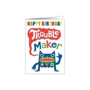 Amazon.com: Happy Birthday Trouble Maker Card: Health &