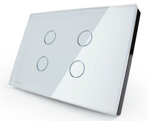 Us/Au Standard, Touch Screen Switch, Vl-C304-81, Crystal Glass Panel, Wall Light Touch Switch+ Led Indicator