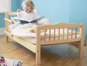 Saplings Natural Toddler bed + Sprung Mattress