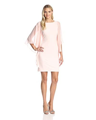 JS Boutique Women's Cocktail Dress with Cascading Sleeves