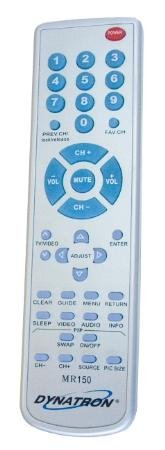 Dynatron Miracle Remote Replacement For Mitsubishi Tvs Made Since 1988 Parental Lock Release