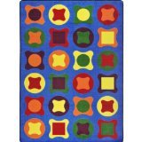 "Joy Carpets Kid Essentials Early Childhood Perfect Fit Rug, Multicolored, 5'4"" x 7'8"""