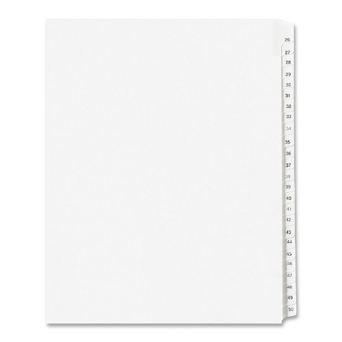 allstate-style-legal-side-tab-dividers-25-tab-26-50-letter-white-25-set