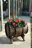 Horizontal Barrel Planter Flowerpot, Garden Ornaments