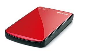 BUFFALO 外付けSSD ポータブルストレージ64GB レッド SHD-PE64G-RD