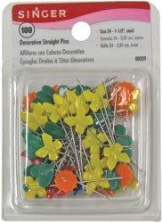 Singer Decorative Straight Pins 100/Pkg 00359; 3 Items/Order