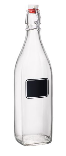 Bormioli Rocco Swing Bottle with Chalkboard, 33-3/4-Ounce (Carafe With Chalkboard compare prices)