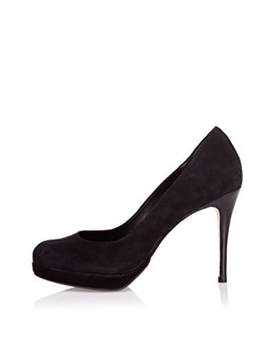 Buffalo London Zapatos de Tacón Alto California Negro