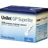 Unilet Superlite 100 Lancets