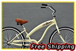 Free Shipping! Fito Modena Sport 1-speed Women - Vanilla/Brown, 26