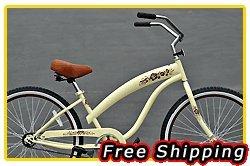 Free Shipping! Fito Modena Sport 1-speed Women - Vanilla/Brown, 26