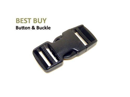 10 pcs Dual Adjustable Side Release Plastic Buckles 1 1/2 Inch (38 mm)