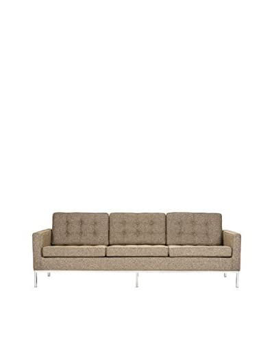 LeisureMod Modern Lorane Twill Wool Sofa, Oatmeal