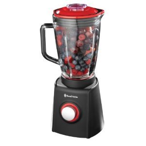 Russell Hobbs Brand New Table  Jug Blender Sep  Desire  in Black / Red   1.5L. Glass -  600W 2 Speeds Stainless Steel Blade - 18510 by Russell Hobbs
