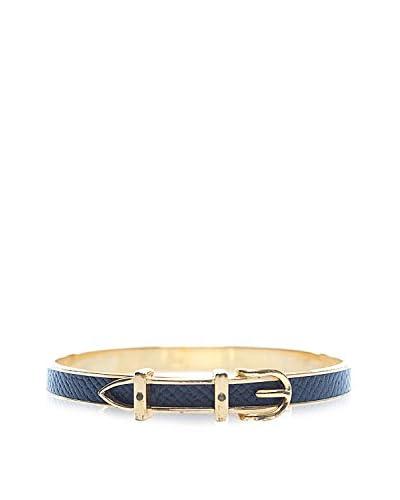 Hermès Navy Leather Belt Buckle Bangle Bracelet