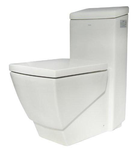 EAGO TB336 High Efficiency EcoFriendly Toilet, White