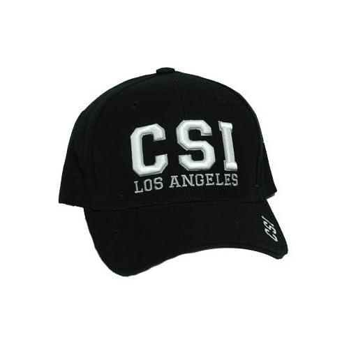 CSI LOS ANGELES LA TV SHOW CBS BASEBALL CAP HAT BLACK