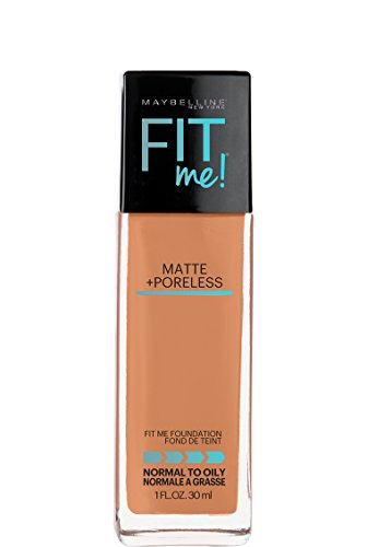 Maybelline Fit Me Matte + Poreless Liquid Foundation Makeup, Spicy Brown, 1 fl. oz.