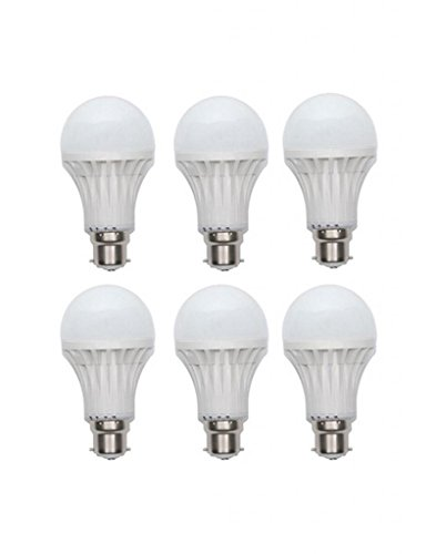 9W LED Bulb B22 White (pack of 6)