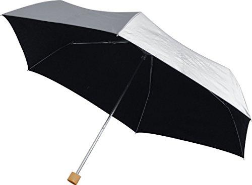 ottostyle.jp UVカット 折り畳み日傘 直径97cm (軽量 約200g / UVカット率 約99.9% / /UPF50+ / 遮光率 約99.9% / シルバーコーティング)