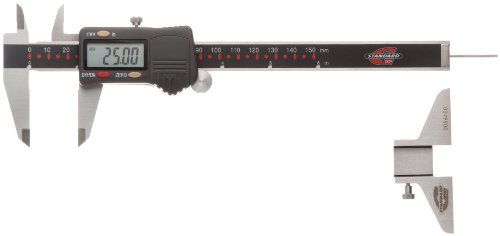 Standard Gage 00534020P Digital Caliper, Stainless Steel, Battery Powered, Inch/Metric, 0-6