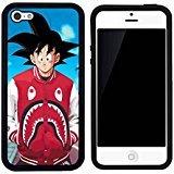 a-bathing-ape-x-shark-goku-caso-iphone-5c-case-cover-negro