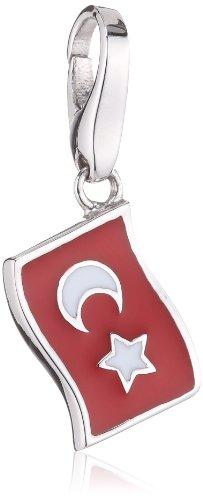 Giorgio Martello Charm Silver 239-805879 Lucky Flag Turkey
