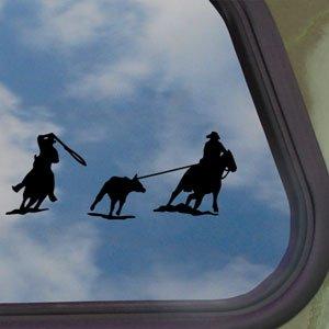 Team Roping Roper Horse Black Decal Truck Window Sticker