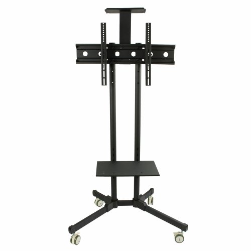 """Mobile Tv Cart Stand Mount Tilt With Wheels For 32"""" To 55"""" Flat Panel Screen Monitor Lcd Led Plasma Televisions, Height Adjustable, Vesa 750Mm X 420Mm, 110Lbs Load Capacity"""