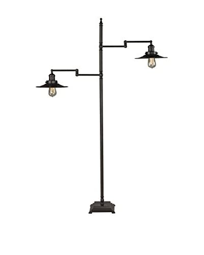 Artistic Lighting New Holland 2-Light Restoration Bronze Floor Lamp, Oil Rubbed Bronze
