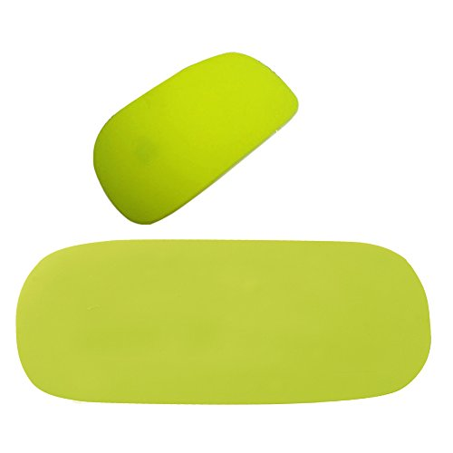 Mollycoocle Silicone Soft Skin Protector Cover For Mac Magic Mouse (Green)