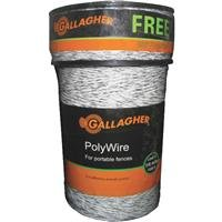 Gallagher G620300 Electric Polywire Fence Combo Roll, 1620-Feet, White