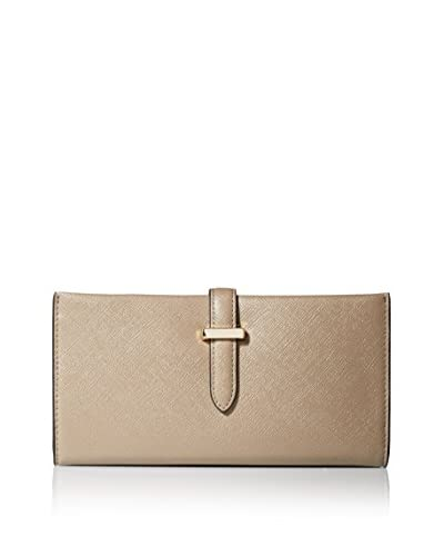 SOCIETY NEW YORK Women's Tab Closure Wallet, Taupe