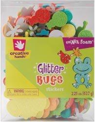 Fibre Craft Glitter Foam Bucket-Bugs; 3 Items/Order