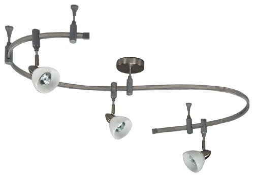 Royal Pacific 7965Ba 3-Light Flex Track Pack With Mesh Shades, Brushed Aluminum, 6-Foot