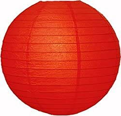 PrettyurParty Red Round Paper Lamps 16