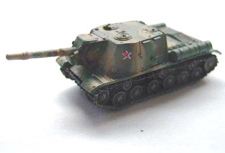 ソビエト軍 JSU-152 重突撃砲  三色迷彩