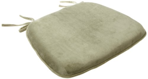 Brentwood Plush Memory Foam Chairpad, Green Tea front-750032